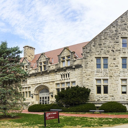 Joseph A. Franklin, Indiana University/Color Photo_3216_435_443 - Photo by Campus Photos USA. The Joseph A. Franklin Hall, located on the college campus...