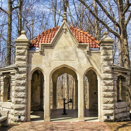 Rose Well House, Indiana University/Color Photo_2436_0497_3_ - Photo by Campus Photos USA. The Rose Well House, located on the college campus of Indiana...