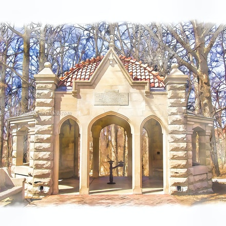 Rose Well House,  Indiana University/Digital Watercolor_2436_0497_3_ - Photo by Campus Photos USA. The Rose Well House, located on the college campus of...
