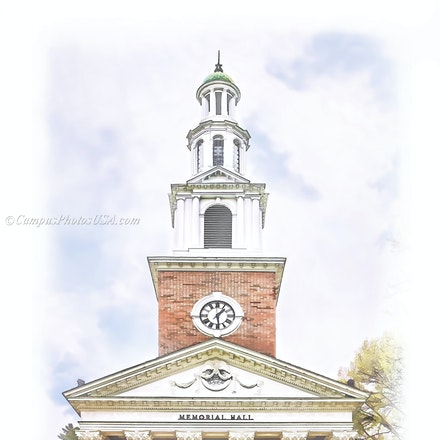 Memorial Hall, the University of Kentucky/Digital Watercolor_2436_6732 - Photo by Campus Photos USA. Memorial Hall, located on the college campus of the...