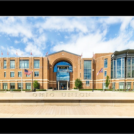 OSU Student Union _12 x 24_8307.Panorama - Photo by Campus Photos USA. The Ohio Union located on the college campus of the Ohio State University, Columbus,...