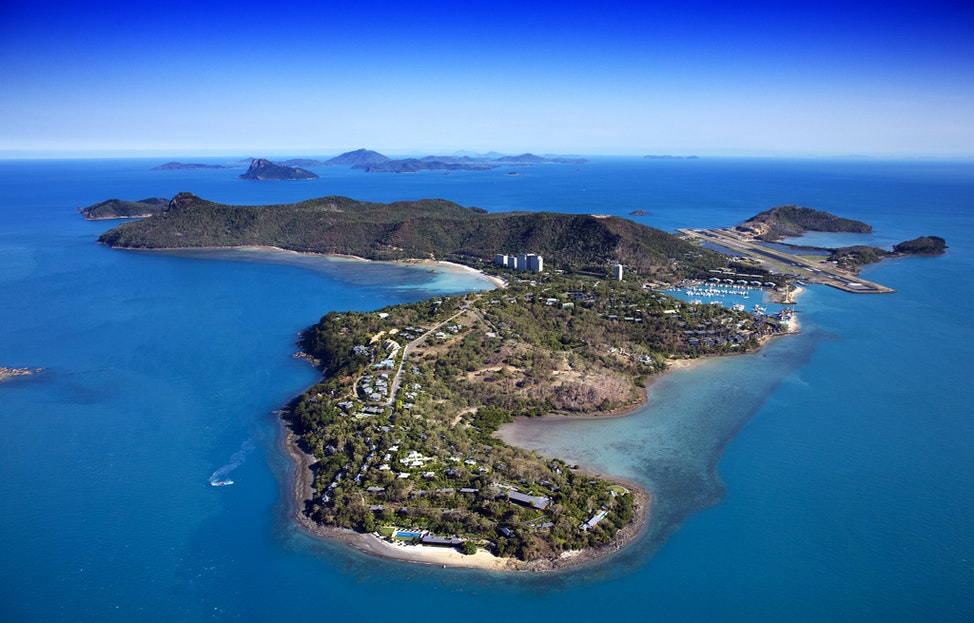 Hamilton Island_49018 - Aerial view of Hamilton Island, Whitsundays, Queensland.