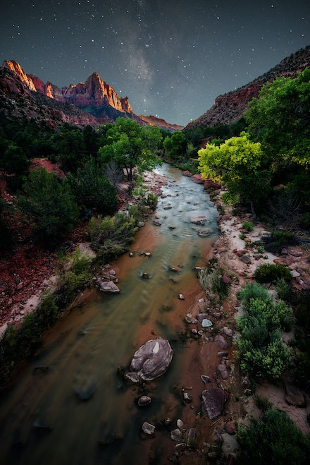 The Virgin River - Zion National Park, Utah. 2013.