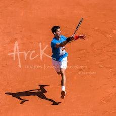 2015 French Open Practice Day - Featuring Djokovic, Nadal, Ferrer, Becker, Rasheed, Garcia-Lopez