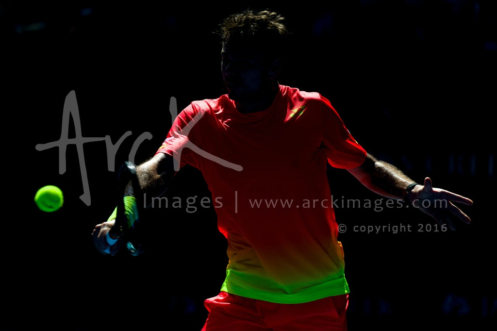 AO16_Highlights-2945 - Stan WAWRINKA of Switzerland at Main Draw Singles Round 3 match on Day 6 at the Australian Open Tennis Championship at Rod Laver...