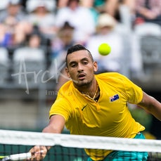 2016 Davis Cup AUS vs SVK Day 1 - Featuring Kyrgios, Tomic, Hewitt, Martin, Kovalik
