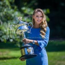 2018 Australian Open Day 14 Women's Trophy Shoot - Featuring Wozniacki