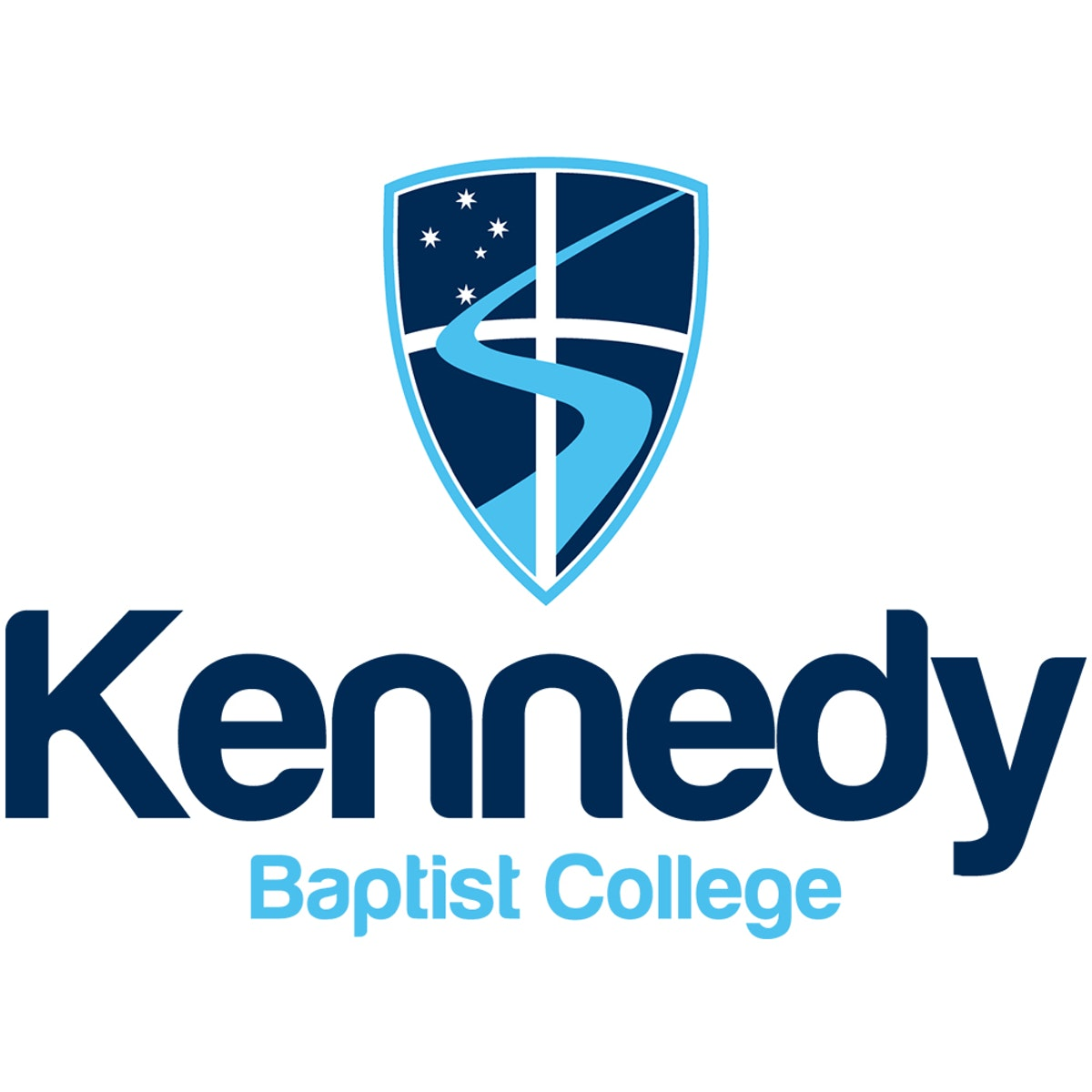 Kennedy Baptist Vertical Blue Logo100px