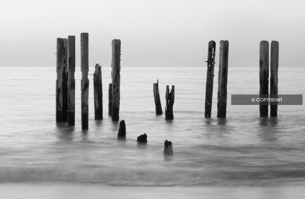Port Willunga jetty in monochrome