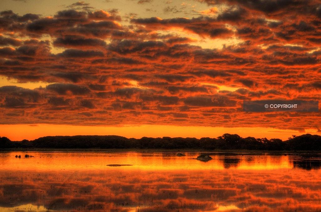 Clouds reflected brilliantly at Rivoli Wetlands