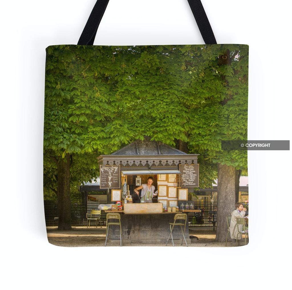 Crepes and Icecreams in Paris tote bag