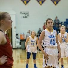 2018 WMHS Girls Basketball vs. Sheridan - Photographed by Leonard Hill