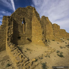 Chaco Culture National Historic Park, New Mexico - A thousand years ago Ancestral Puebloan People built major communities in Chaco Canyon's wild, high-desert...