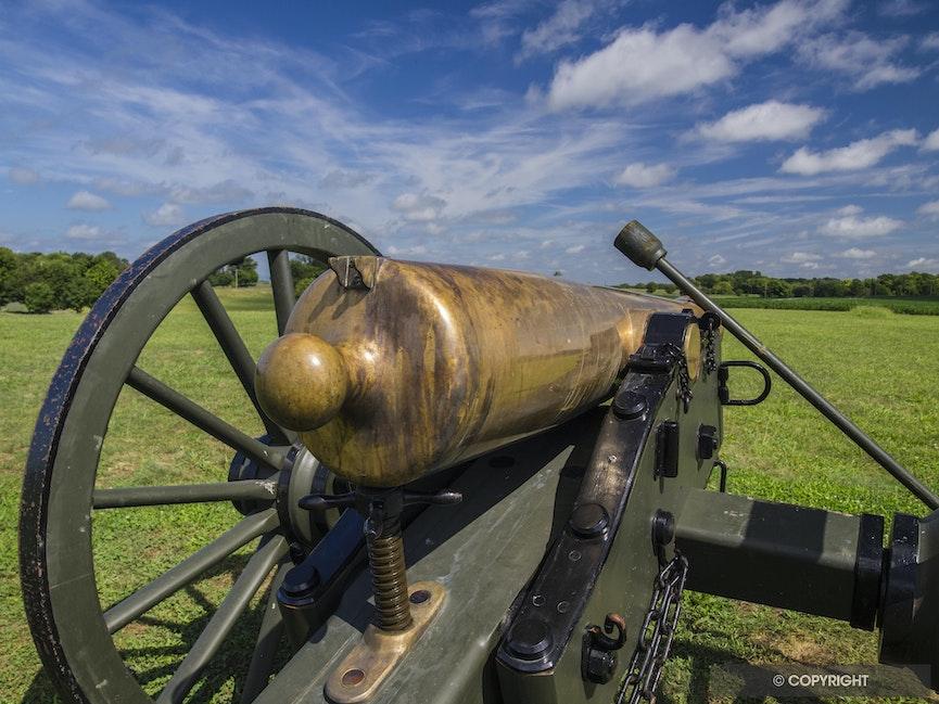 Brass civil war canon - Brass canon at Antietam National Battlefield Park, Maryland