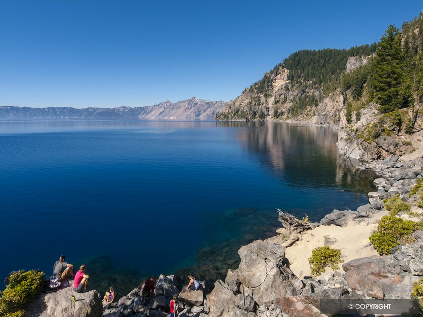 Sun Bathers - Crater Lake National Park, Oregon