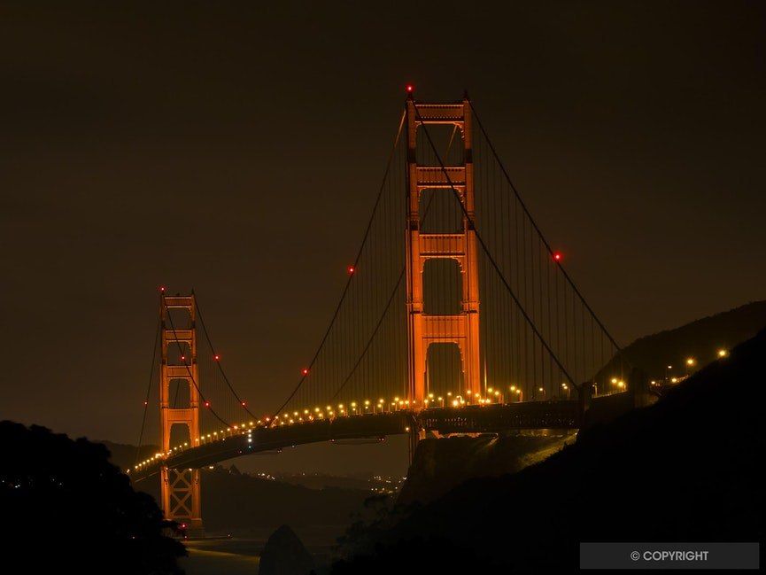 Golden Gate Nocturne - Fort Baker, Golden Gate National Recreation Area, California