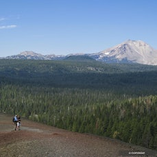 Lassen Volcanic National Park - Last active in 1921, Lassen Peak near Mineral California is the southernmost volcano in the Cascade Range, pioneers in...