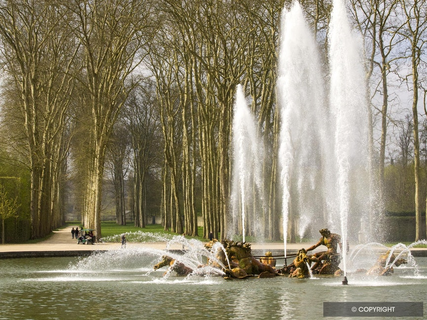 Apollo's Chariot Fountain - The Chateau de Versailles fountains are rarely active nowadays