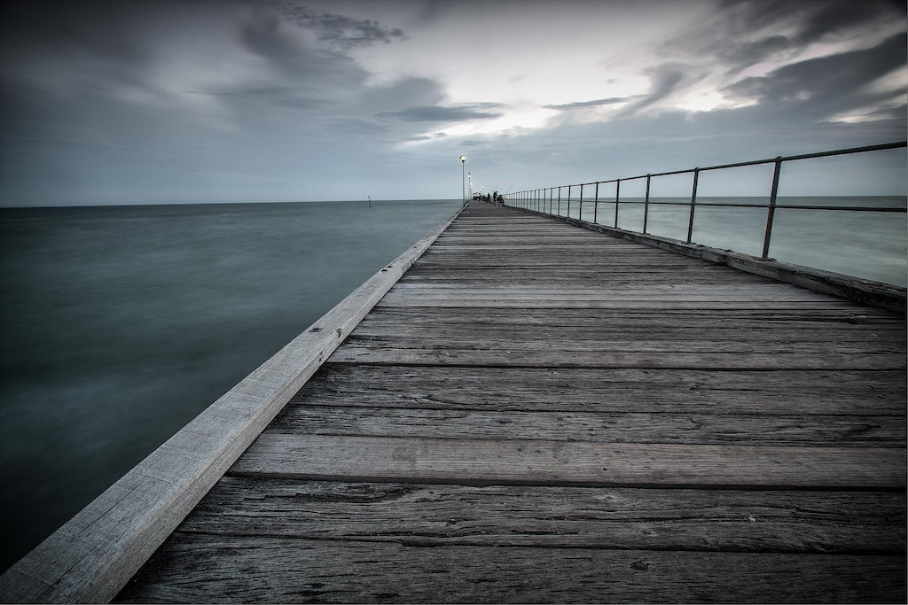 A crepuscular night at mordialloc pier. - Taken at Mordialloc pier, Victoria.