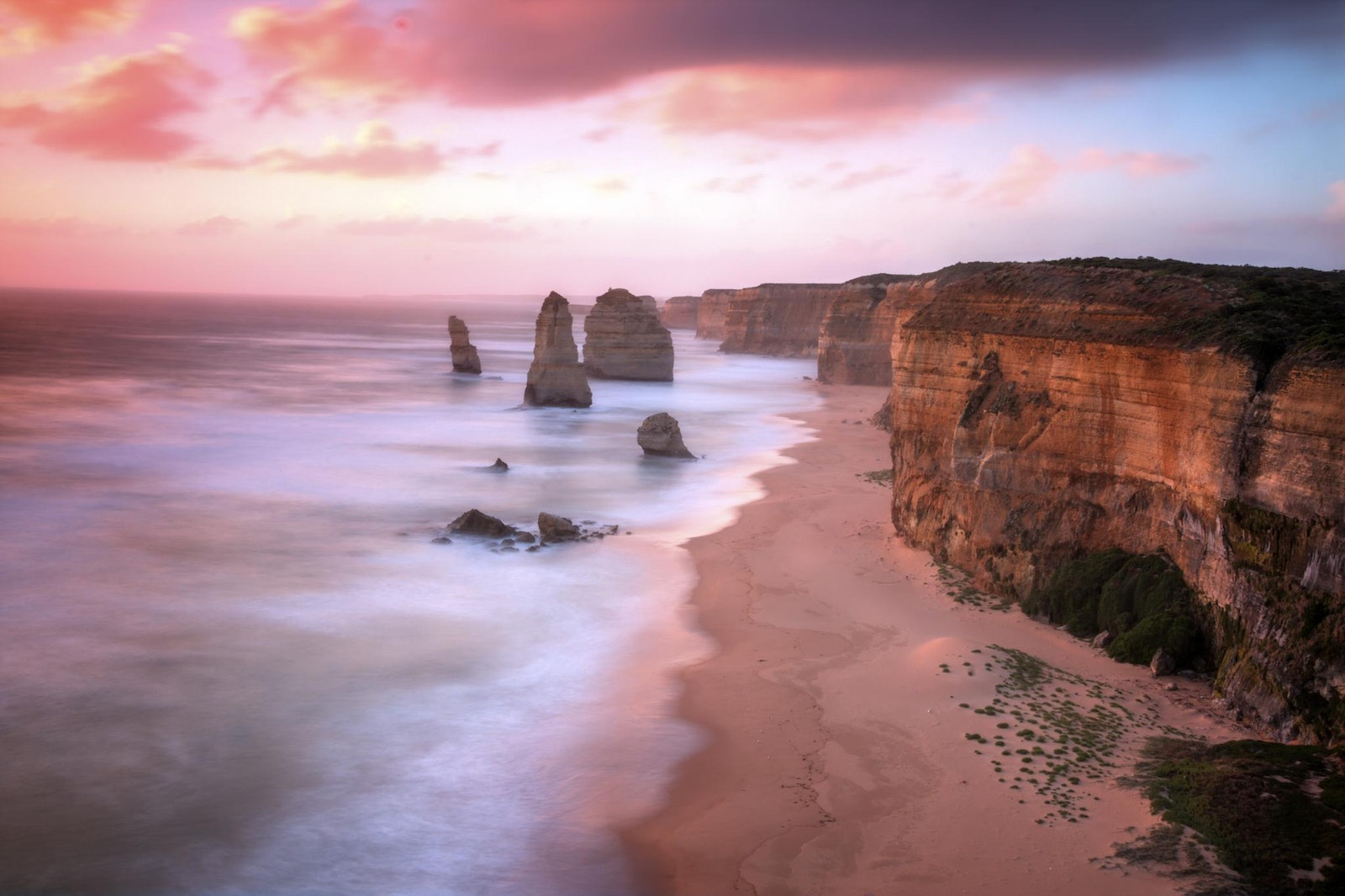 The Twelve Apostles at sunset #1 - This photo was taken during a beautiful sunset of the twelve apostles.