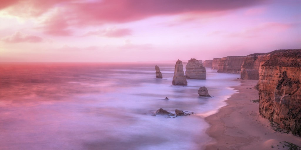 The Twelve Apostles at sunset #4 - This photo was taken during a beautiful sunset of the twelve apostles.