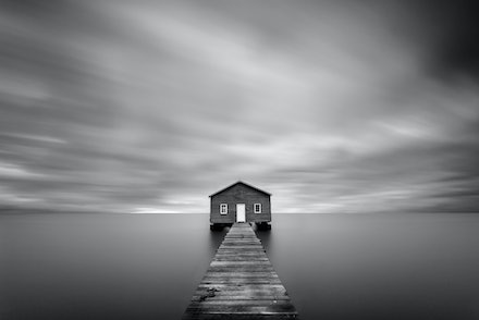 Crawley Boatshed - A Perth icon on a cloudy morning