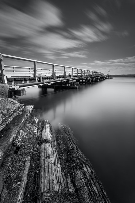 Wallaga Lake - Leading lines and long exposure are the order of the day in this composition on the NSW South Coast