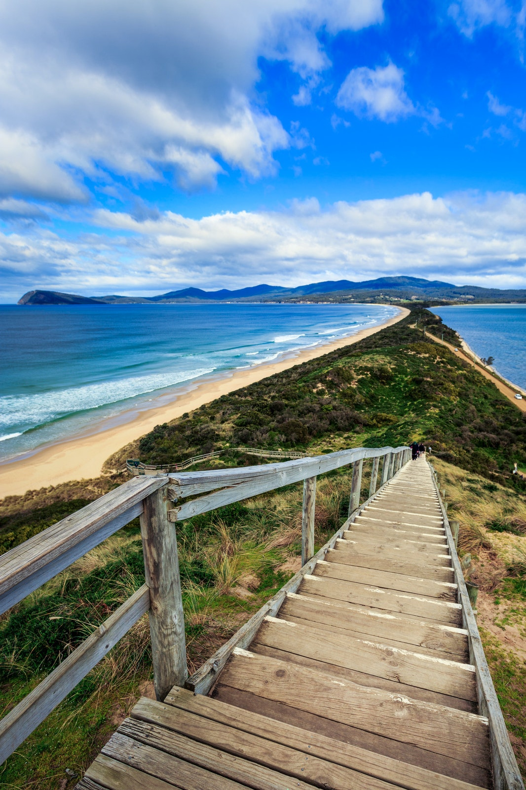 The Neck - The narrow landbridge known as The Neck that connects the north and south parts of Bruny Island, Tasmania