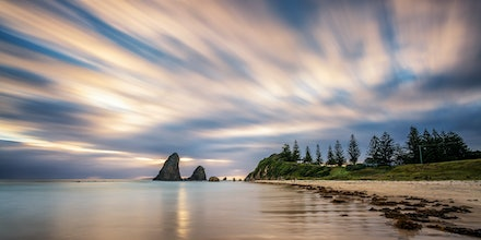 Glass House Rocks - Two minute exposure looking over Glass House Rocks, Narooma.