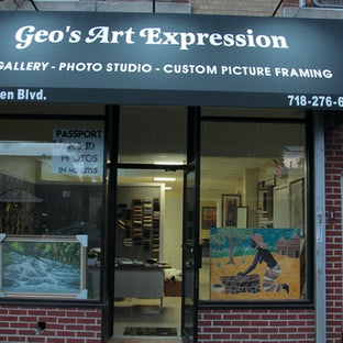 GRAND OPENING - The management and staff of Geo's Art Expression request the pleasure of your company at THE GRAND OPENING of the Art Gallery and Photo...