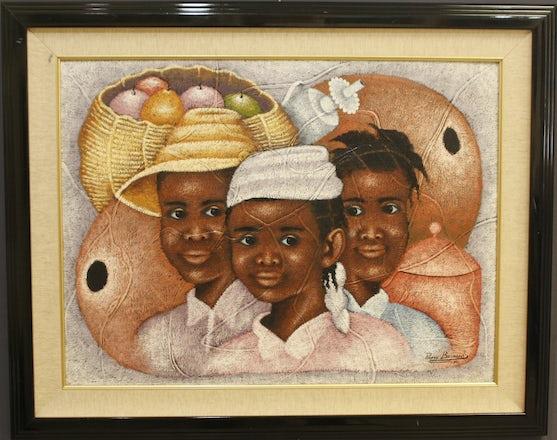Three Sisters by Pierre Bernard - 24X32 Oil on Canvas