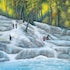 Dunn's River Falls - Oil on Canvas Original size; 24 x 36