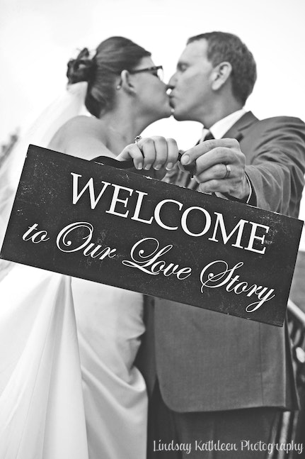 Liz_Tony Wedding_Sign_Lindsay Kathleen Photography