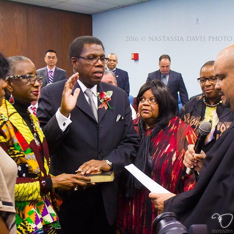 Councilman Kaleem Shabazz swearing-in ceremony. - City Hall of Atlantic City, January 1, 2015.