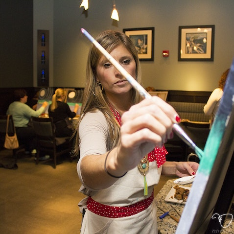 Anchor Arts @ The Melting Pot - A night of painting with Brittany Czekai - December 18, 2014