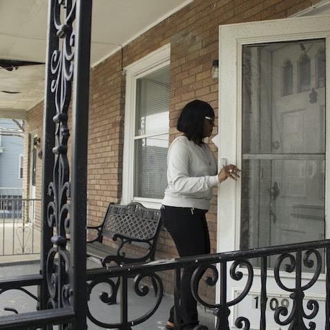 Team Shabazz Canvassing - Shabazz's volunteers canvassing door-to-door throughout Atlantic City's Third Ward.
