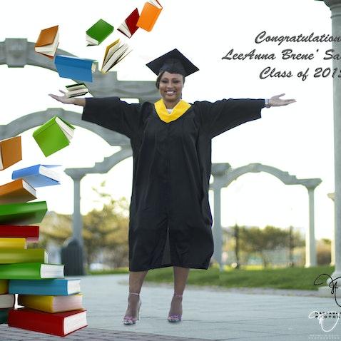 LeeAnna Saunders College Portraits - College Graduation Portraits photographed in Atlantic City, NJ. May 3, 2015.