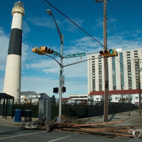 Hurricane Sandy Aftermath - Photos shot after historic Hurricane Sandy sweeps through Atlantic City Inlet.