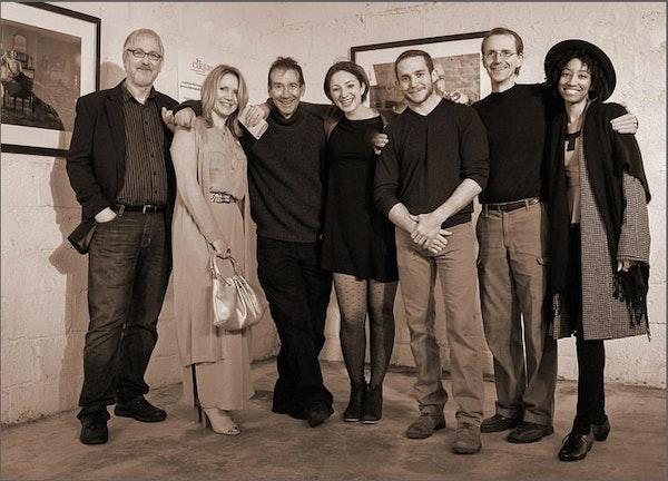 CliquePhotographers - Photo by Paul Dempsey (Bill Horin with Clique photographers, Susan Grace, Gary Mattie, Magdalena Kernan, Frank Weiss, Steven Greer,...