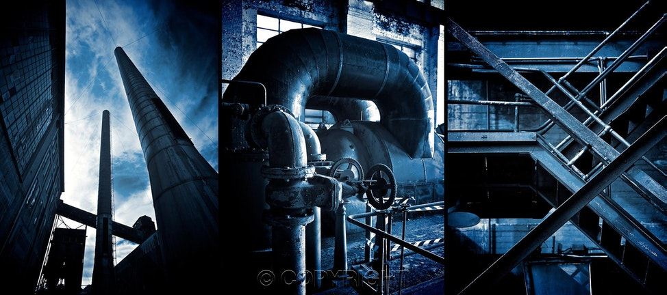 Bluescapes #0 Triptych	 - 