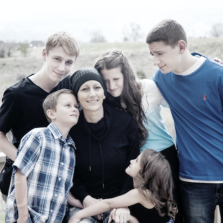 Liz and her sweet family...2015