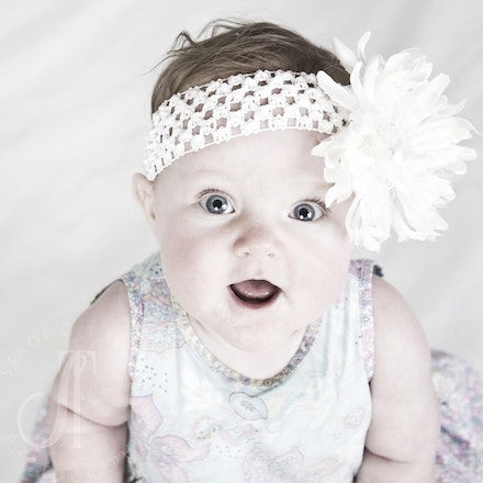 Delaney....6 months old and precious as ever!! - LOVE this little girl's smile!
