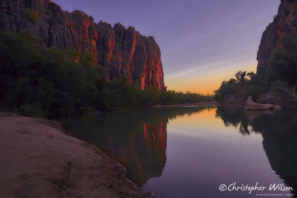 Windjana Gorge at Sunset 1