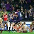 NRL 2015-19 - Melbourne Storm celebrate a try  Digital Image by Ian Knight © nrlphotos.com: NRC, Rugby League, Round 8, Melbourne Storm v Manly Sea Eagles...