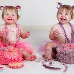 Cake Smash - Isla & Harlea - First Birthday Cake Smash shoot
