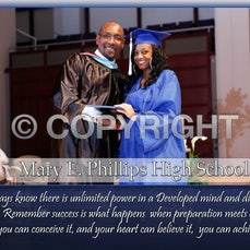 Mary Phillips Graduation walking around the stage