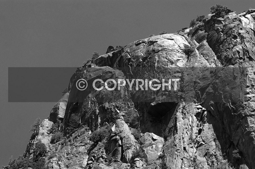 Granite Monolith (Part of El Capitan - Yosemite National Park)