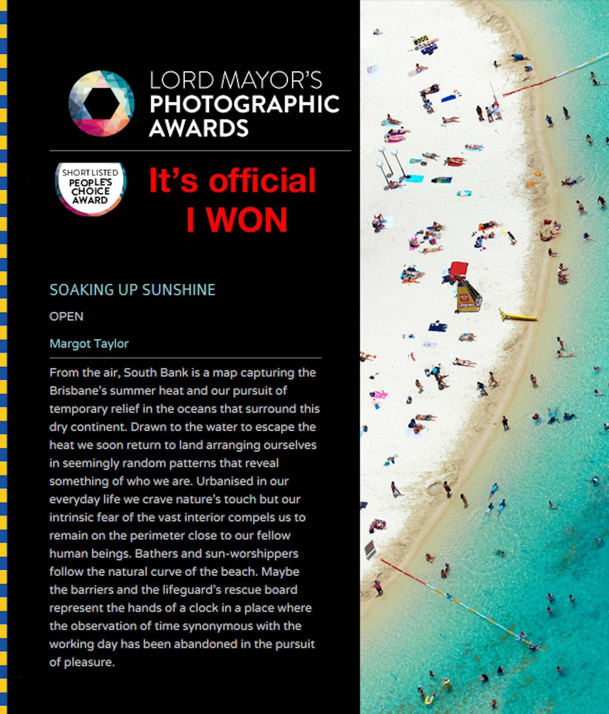 Winner of 2013 Lord Mayors Photographic Awards - People