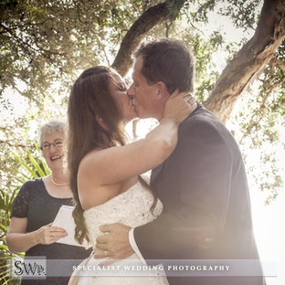 Anne & Matt Wedding - Ceremony @ The Green Cathedral - Pacific Palms