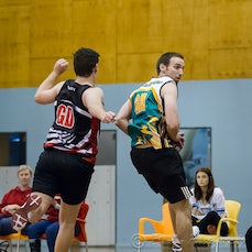 2015 SEQ Grand Final Open Men Wests vs Pine Rivers - 2015 SEQ Challenge Grand Final Open Men Western Districts Netball Association vs Pine Rivers Netball...